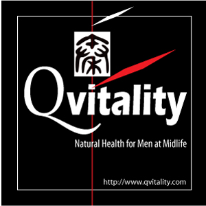Qvitality: Natural Health for Men at Midlife. Branding Logo Design 4A. Image size:300x300px