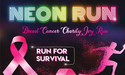 Breast Cancer Charity Neon Run 2019
