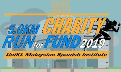 5.0KM CHARITY RUN FOR FUND UniKL MSI 2019