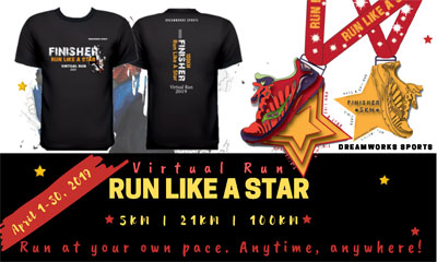 Run Like  A Star Virtual Run