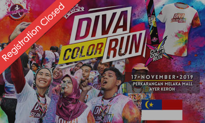 The Running Diva Malaysia Color Run (Melaka) 2019