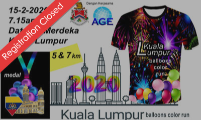 Kuala Lumpur Balloons Color Run 2020