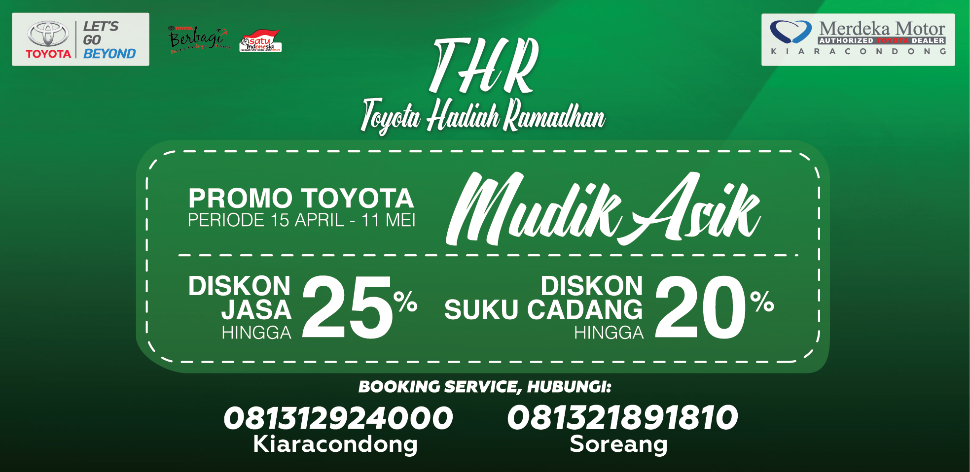 Toyota Merdeka Motor Kiaracondong, Bandung