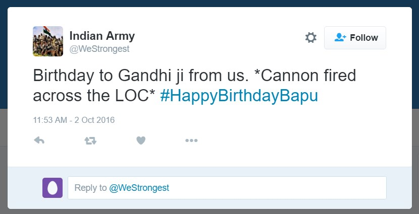 Mahatma Gandhi, Twitter, Gandhi Jayanti, Bapu