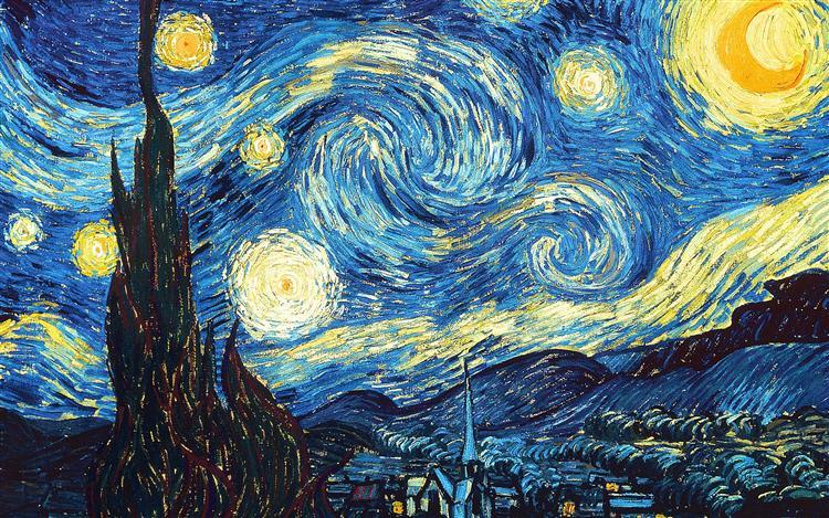 Vincent van Gogh, The Starry Night, Garip Ay, Ebru