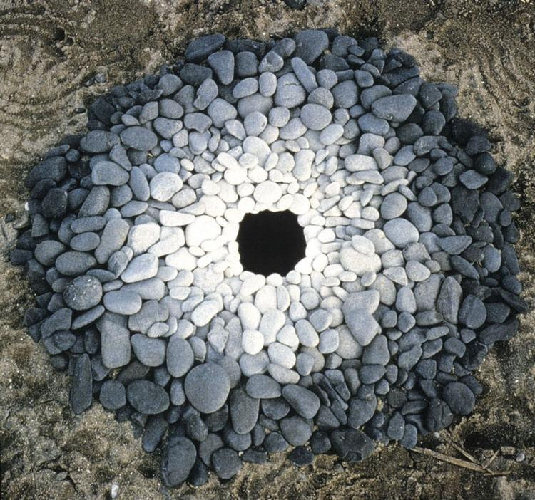 Andy Goldsworthy, magical land, rocks, leaves, sticks, art, nature