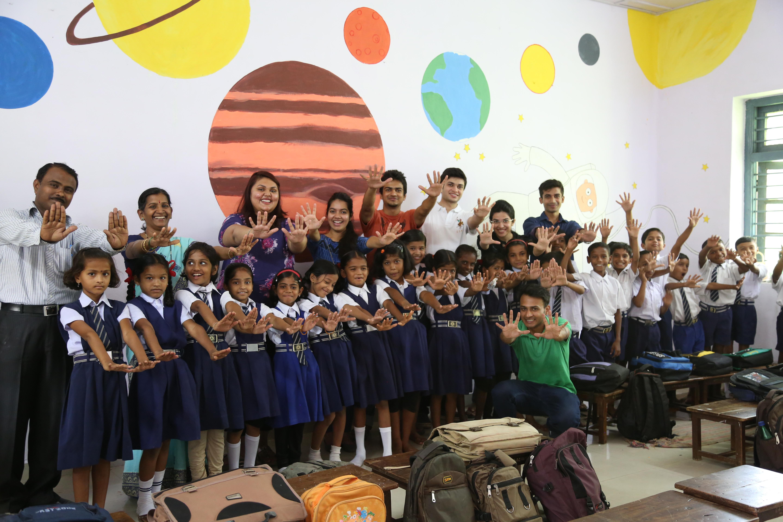 Happy School Project, Zero Gravity, Dr.Shrikant Jichkar, Maitreyi Jichkar, Shrikant Jichkar Foundation, Kabir Vajpayi, Building as a Learning aid, BaLa, zero gravity Nagpur, Zero Gravity Project Of Nagpur, Project Zero Gravity In Nagpur Schools, Happy Sch, Dr Shrikant Jichkar Foundation, architect Kabir Vajpayi, Zero Gravity's Happy School Project