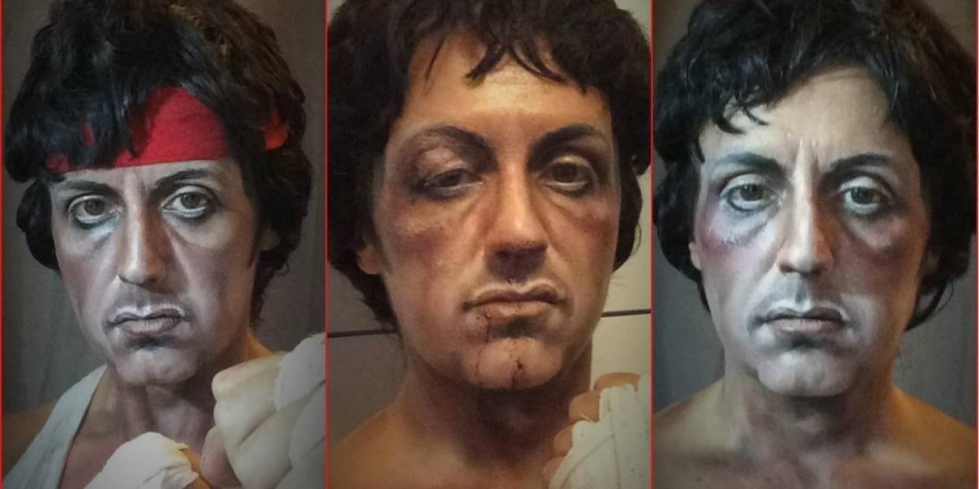 Lucia Pittalis, Rocky, Queen Elizabeth, Godfather, Rambo, Makeup