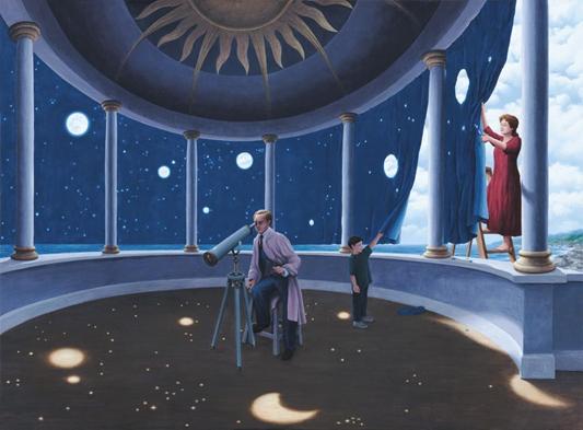 Painting, Magical, Rob Gonsalves, Surrealist, Magic Painter, Surrealist painter