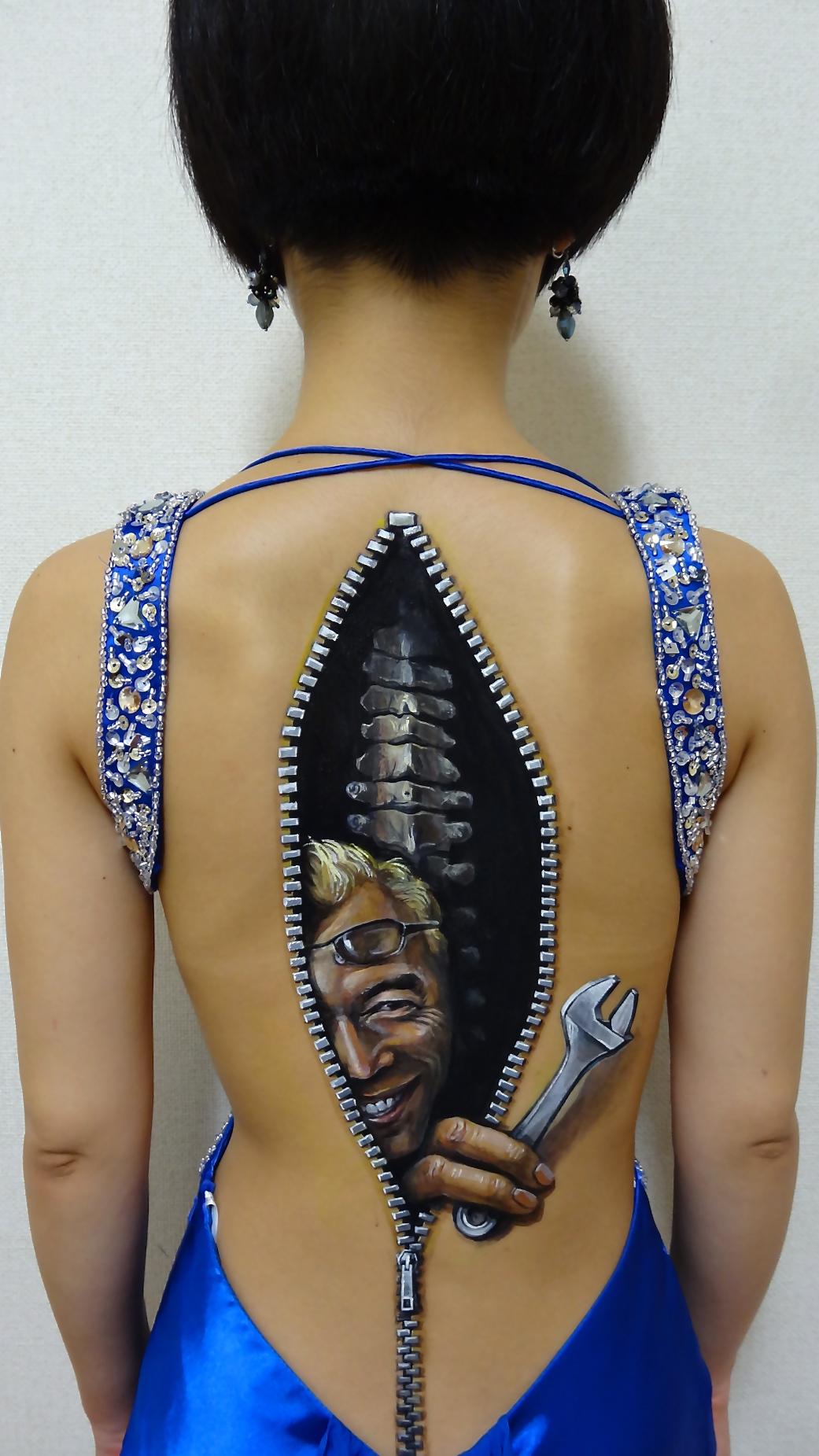 Hikaru Cho, Art, Painting, Body Art