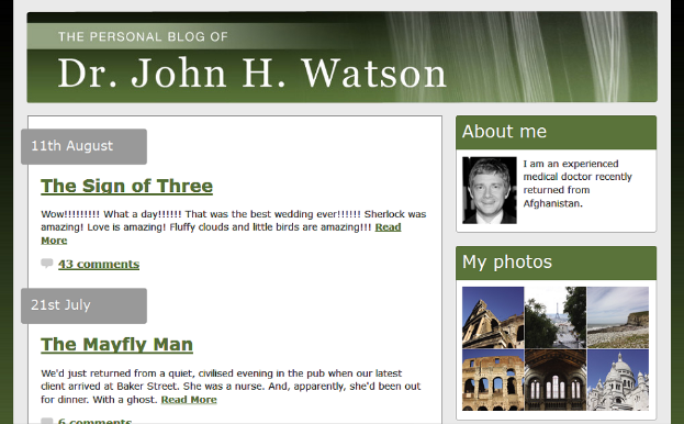 Watson, Watson's Blog, BBC, Real Websites, Websites, BBC's Sherlock, Sherlock Holmes., Joseph Lidster, Hartswood Films