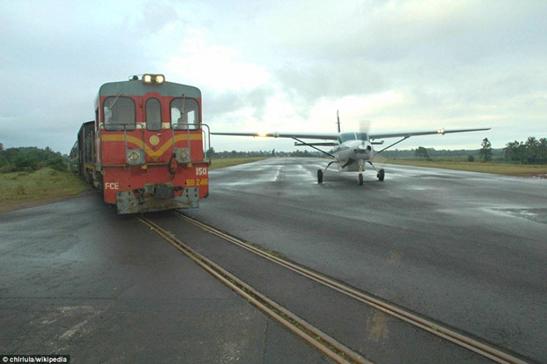 Gisborne, Gisborne Airport, Railway, Runway, Intersection