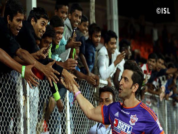 Pune City FC, Delhi Dynamos, ISL, Hrithik Roshan, Football, Indian Super league (ISL) Football league, Pune Defeated Delhi At ISL