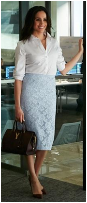 Redefine Dressing, Power Dressing, Dressing, Style Tips, Tips For Style, Rachel Zane, Suits, Best Dresses, USA Series, USA series Suits, Patrick J. Adams, Gina Torres, Amanda Schull, Vanessa Ray, Meghan Markle, A silk shirt
