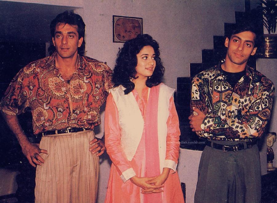 Madhuri, Madhuri Dixit, Sanjay, Sanju, Sajay Dutt, Longest hair, Salman Khan, Saajan, Salman, Bhai, Sallu