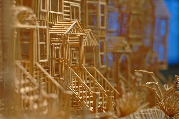 Glue, San Francisco, Toothpick, Art, Scott Weaver