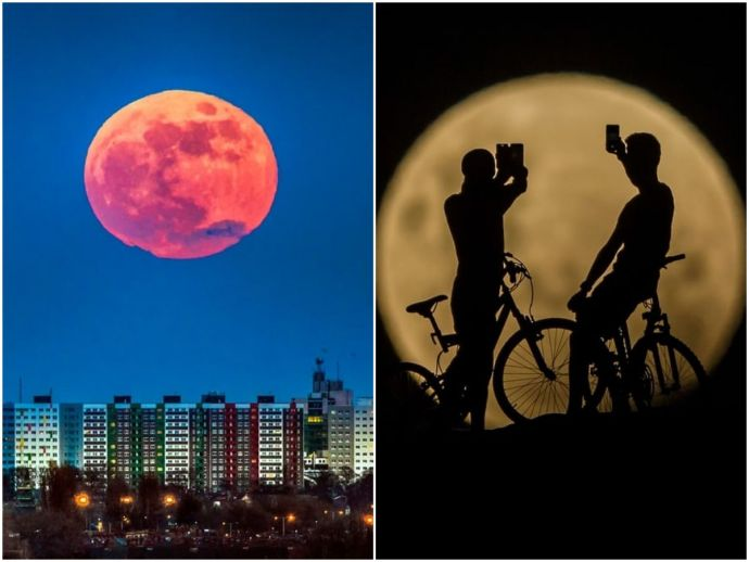 Super Blue Blood Moon, astronomy, lunar eclipse, total lunar eclipse, photos, rare astronomical phenomenon, blue moon, super moon, blood moon