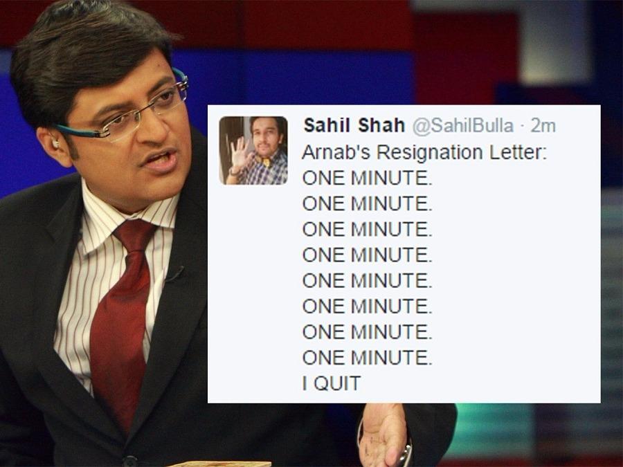 Arnab Goswami, Twitter, Twitter Reactions