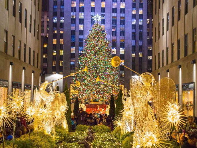 New York, Manhattan, Rockefeler Center, Christmas, Lighting Ceremony