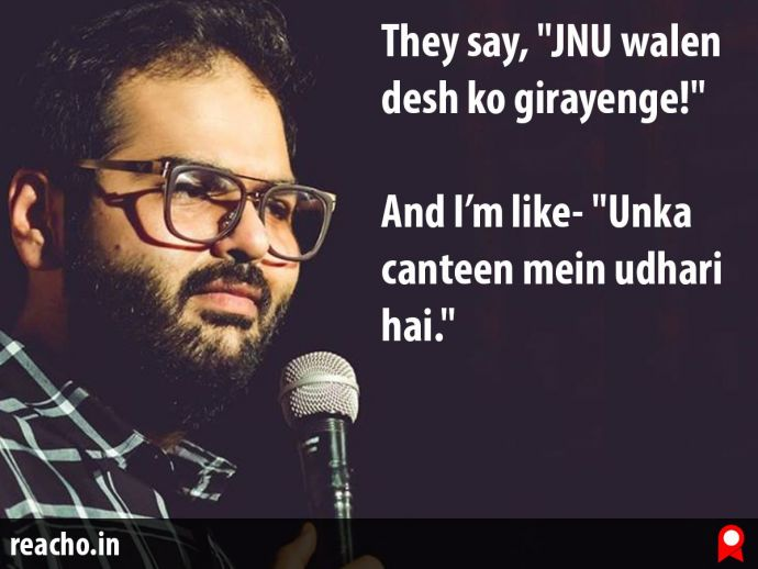 Kunal Kamra, Gurmehar Kaur, JNU, India, Kunal Kamra video, Kunal Kamra viral video
