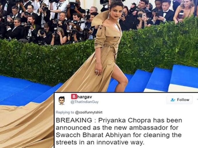 Priyanka Chopra, Priyanka's new look, Met Gala 2017, Priyanka's red carpet looks, Priyanka's long trench coat, actress, quantico, hollywood, priyanka chopra latest, Trolls On Priyanka Chopra, Tweets On Priyanka Chopra, NYC's Metropolitan Museum of Art