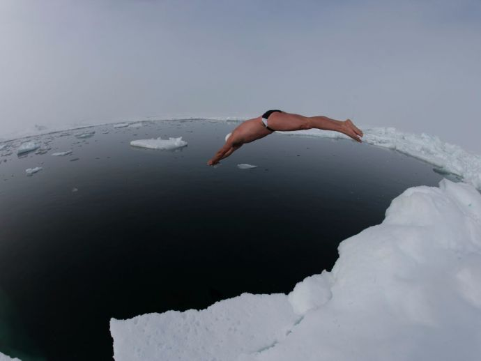 swimmer, Arctic, Polar regions, lewis pugh, ocean, sea, ice, frozen, adventure, extreme, sports, climate, change, awareness, cause, endurance