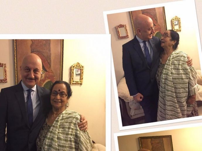 Anupam Kher's mother, anupam kher, mother, love, story, parentslove, anupamkhertwitter