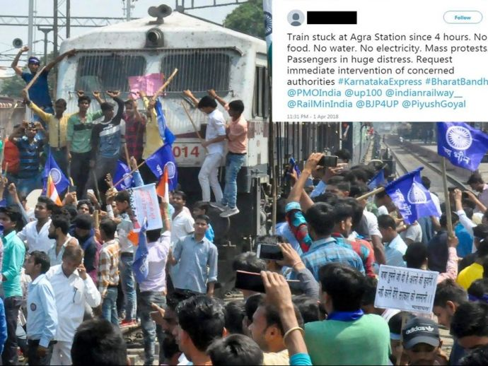 Bharat Band, Indian Bharat Band, Indian Railway stop, Dalit, protest, Scheduled Castes act, Scheduled Tribes act, supreme court, train stop, Indian railway, modi, BJP
