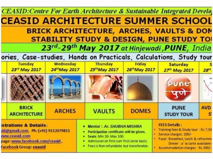 Arches, Vaults, Domes, Brick Architecture WorKshop & Pune Studytour, Pune