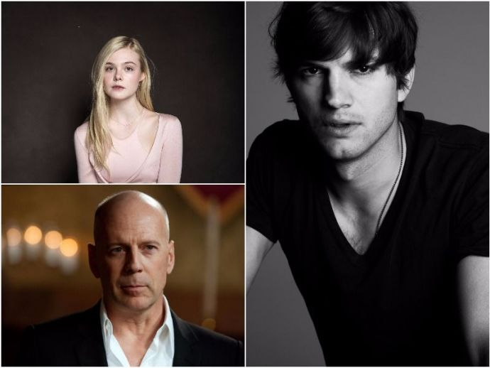 middle name, hollywood, stars, famous people, ashton kutcher, brad pitt, paul mccartney, bruce willis, sean connery, rihanna, elle fanning, dakota fanning