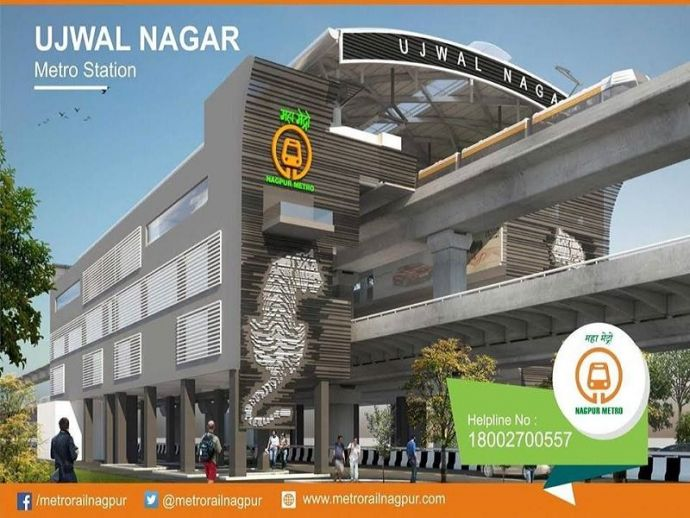 Nagpur, Metro rail, NMRCL, Ujjwal Nagar, Ambazari, Walkway, Tourist, Attraction, Tiger Capital, India