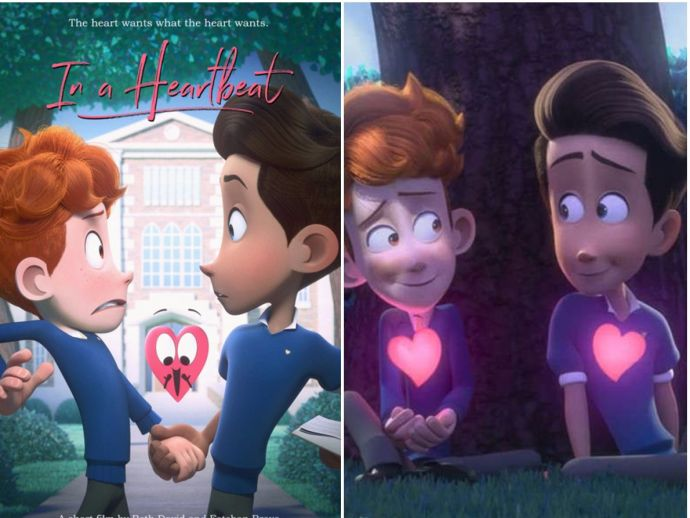 Pixar, In a heartbeat, LGBT movie, Sensitive movies, animated movie, short movies, homosexual, gay, love, coming out, film, ringling, college, animation, beth david, esteban bravo