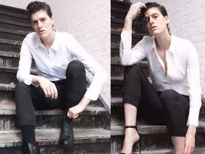 rain dove, model, androgynous, men, women, fashion, gender, queer, lgbt