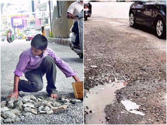 Hyderabad, Ravi Teja, Potholes, Repairing, Telangana chief minister K Chandrashekar Rao, Telangana, accident, boy, 12-year-old