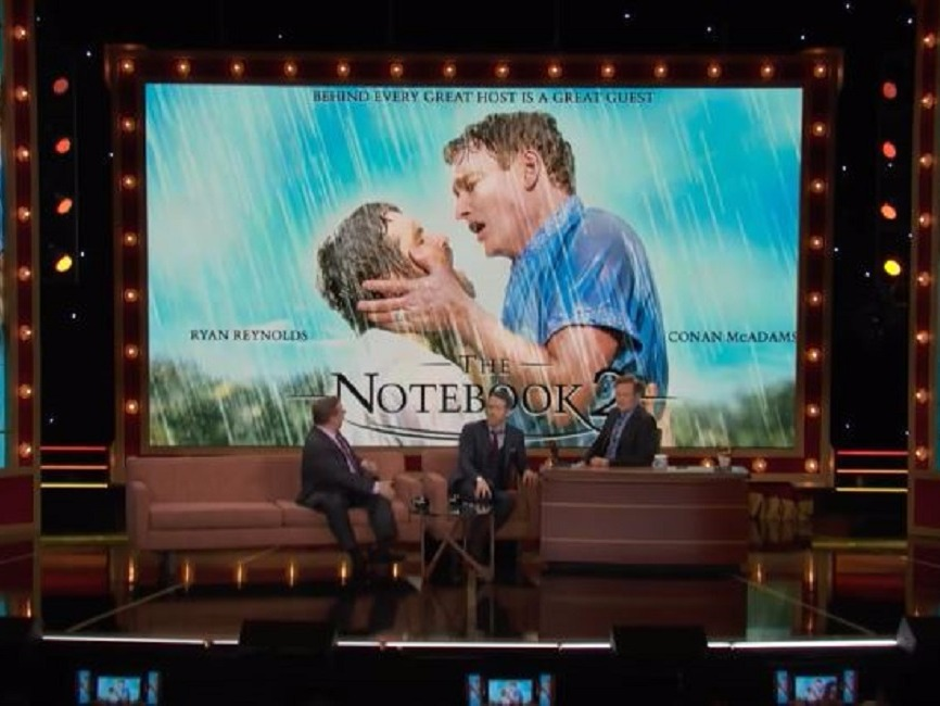 Ryan Reynolds, Conan, Conan O' Brien, The Notebook, Spoof