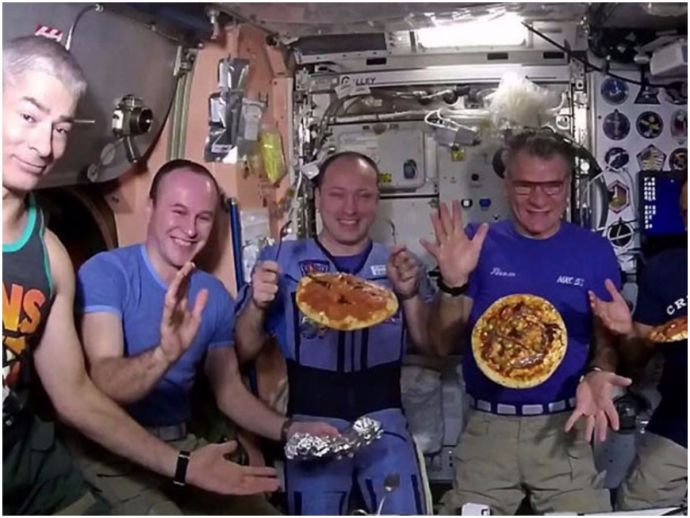 Pizza, Astronauts, International Space Station, Space, Paolo Nespoli