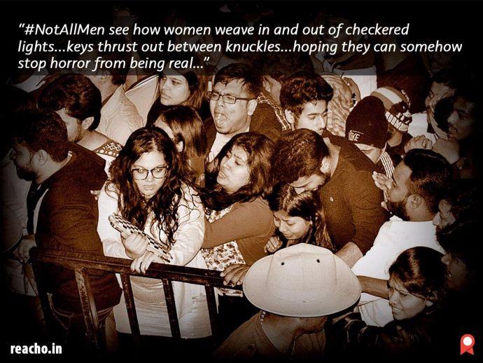 harnidh kaur, not all men, bengaluru, molestation, poem
