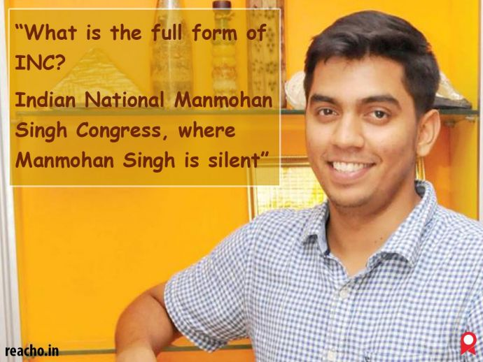 Shridhar Venkataramana, One Liners, stand-up comedian, IIM Bangalore, funny, Current affairs, politics, congress
