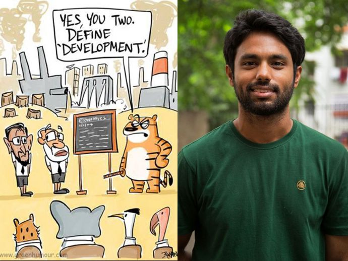 Rohan Chakravarty, 5th June, wildlife cartoonist, Nagpur's Cartoonist, Green Humor, Environment Day, nagpur