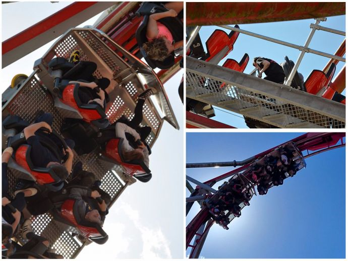 Roller coaster ride, dangerous roller coaster ride, Drayton Manor Theme Park, upside down ride