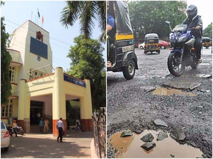 nagpur, nagpur news, NMC, 641 Potholes, Gangabai, Nagpur Municipal Corporation, monsoon, traffic, road, condition