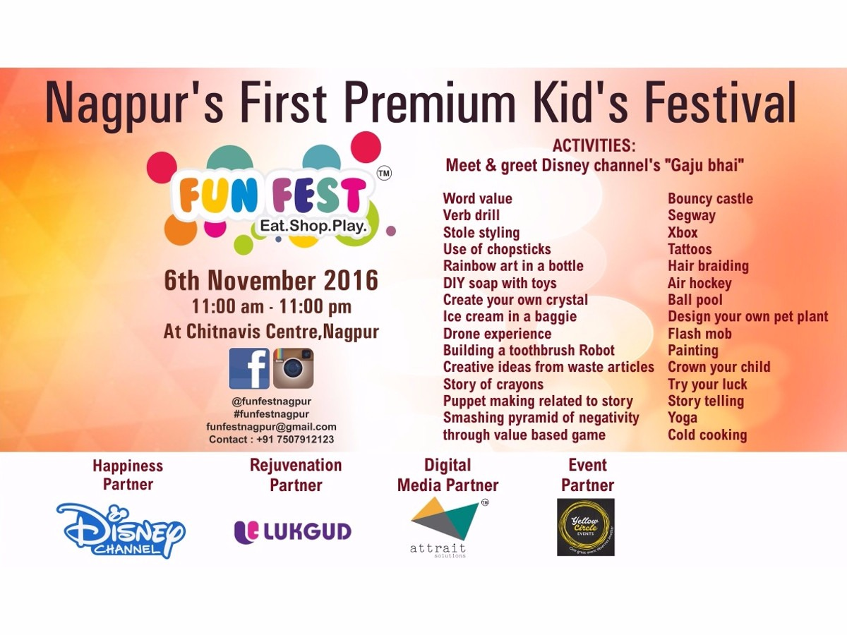Nagpur, Fun Fest, Fun Fest The Kids' Festival, Nagpur Event, Event, Festival