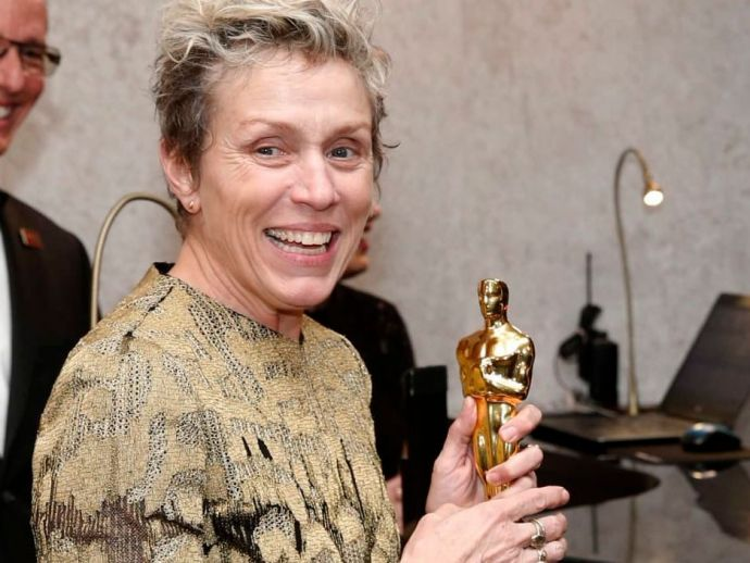 frances mcdormand, trophy, award, oscar, academy, 2018, winner, best actress, three billboards outside ebbing, steal, stole, stolen, man, arrested, Terry Bryant, Governors Ball, after, party, ceremony, Hollywood, Facebook, theft, celebration, post, arrest