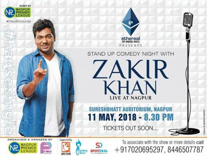Nagpur, Event, Zakir Khan Live