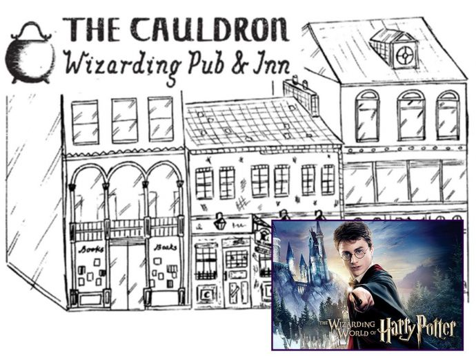 Harry Potter, The Cauldron, The Leaky Cauldron, Harry Potter Pun, London, Wizard World, Harry Potter World