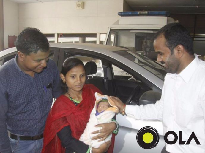 Pune, Ola, Cab, Woman, Baby delivery in cab, free ride, Indian cab service