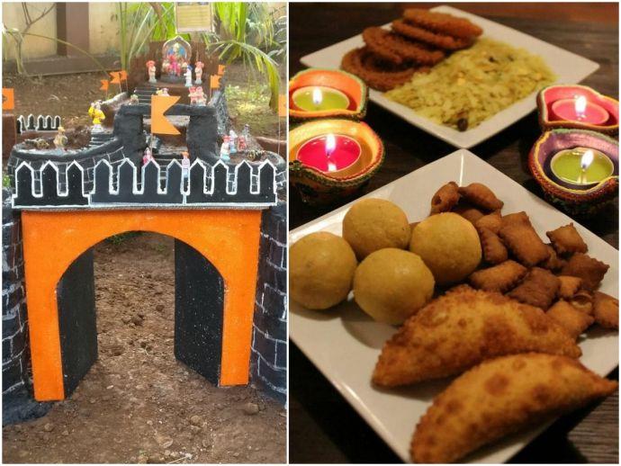 nagpur, sitabuldi, dharampeth, mahal, itwari, fort making, killa making, killa-making competition, shopping, haldirams, ghate, Diwali namkeen, mithai, meetha, halwai, Badkas chowk, firecracker, ladhi, phuljhadi