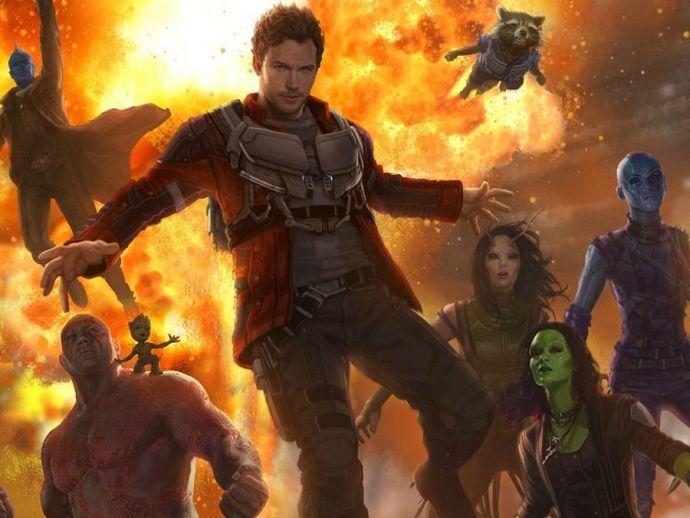 Guardians Of The Galaxy, Vin Diesel, Bradley Cooper, Chirs Pratt, Dave Bautista, Kurt Rusell, Baby Groot