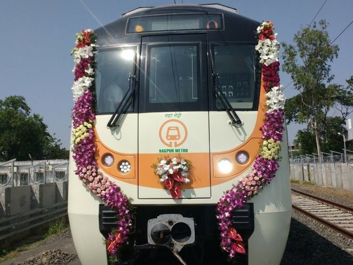 nagpur, mahameto, nagpur metro, mahametro md, brijesh dixit, march 2019, sitabuldi, khapri, hingna road, Airport, Jaiprakash Nagar, north-south platform, signalling interlocking system, communication based train control, CBTC, MIHAN substation, main offic