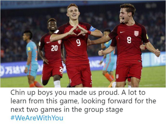FIFA World Cup, FIFA U 17, India, US, Anwar Ali, New Delhi, Jawaharlal Nehru Stadium, Chris Dunkin, Andrew Carlton, Josh Sargent